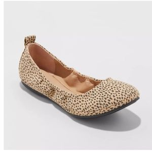 Animal Print Delaney Faux Suede Ballet Flats